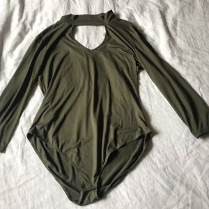 Tops - Army Green Bodysuit